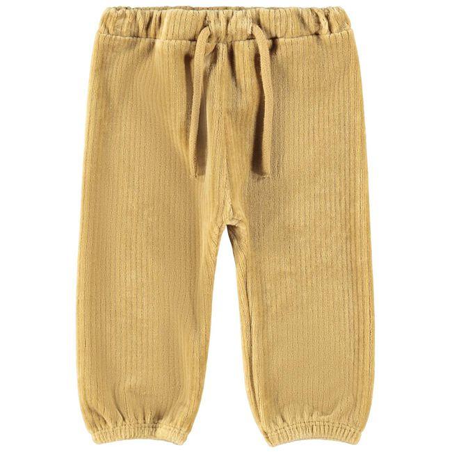 Lil Atelier jongens broek - Dark Yellowshade