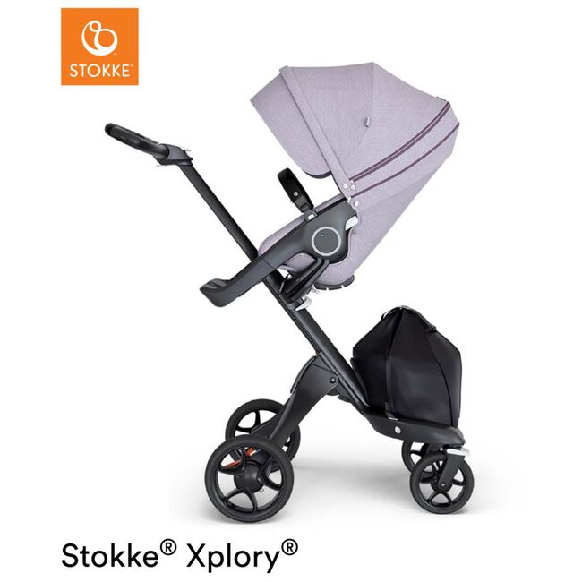 Stokke Xplory V6 Brushed - Brushed Lilac (Brown Leather)