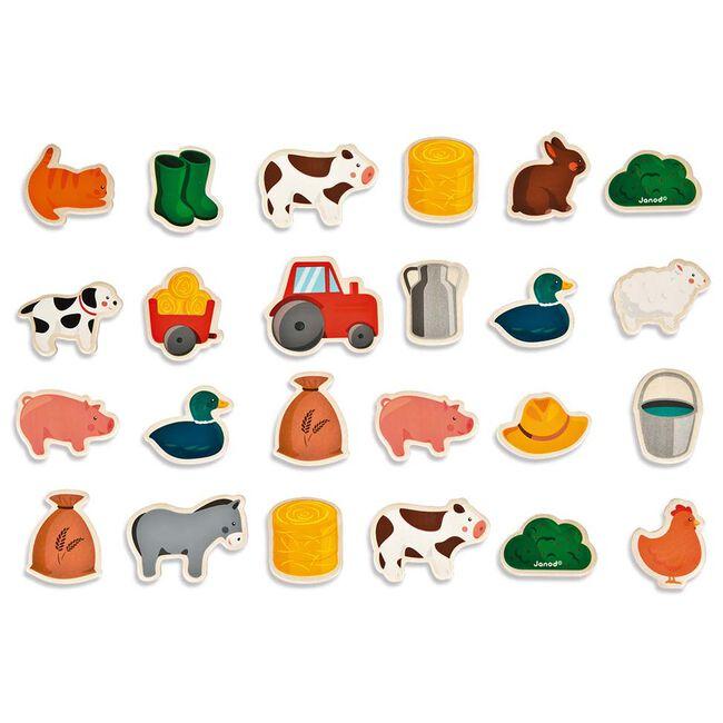 Janod magneten - boerderij - Multi
