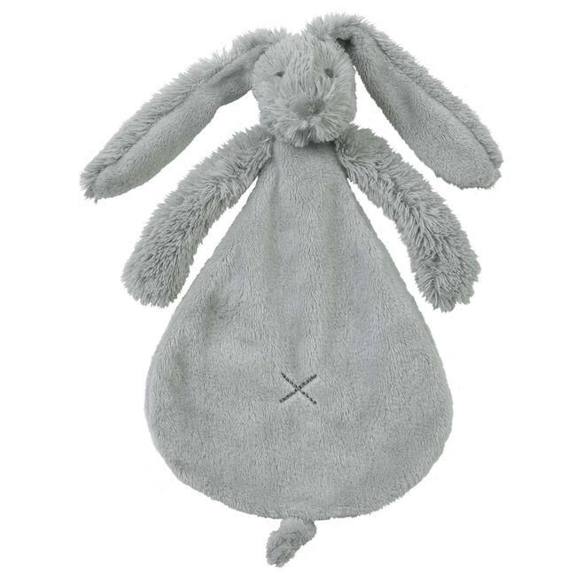 Happy Horse Rabbit Richie knuffeldoekje - Darkgrey