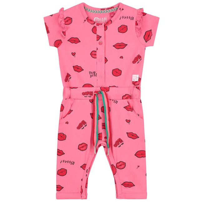 Quapi peuter meisjes jumpsuit - Mid Pink