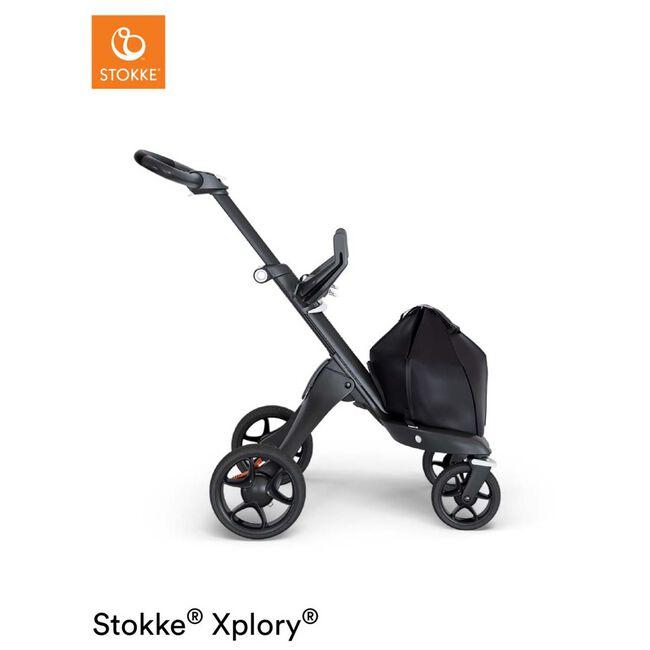Stokke Xplory V6 kinderwagen met zit - Black (Black Leather)