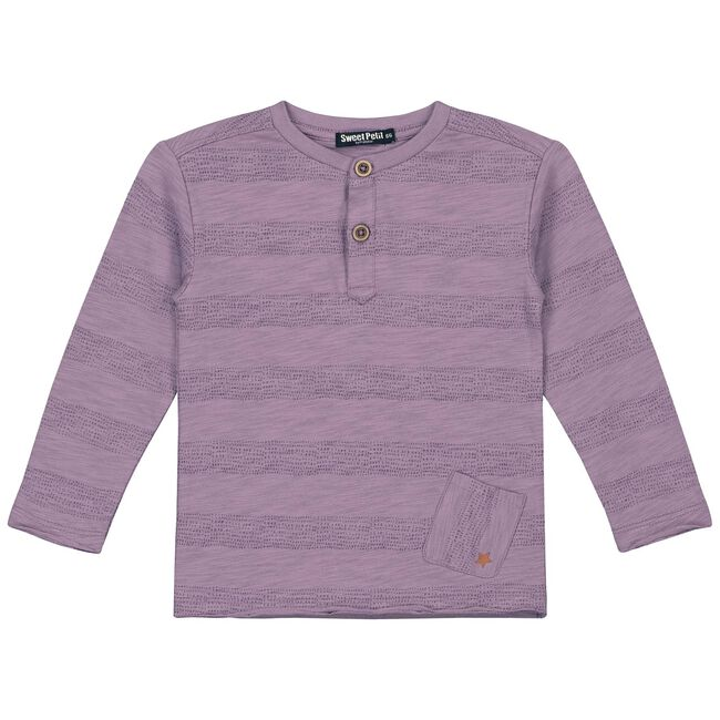 Sweet Petit baby jongens t-shirt Olivier - Dark Purple