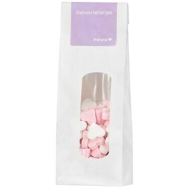 Prénatal geboortehartjes roze -