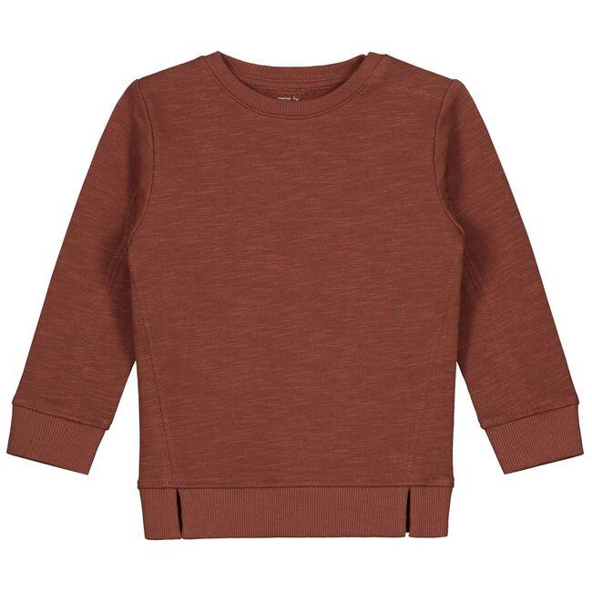 Prénatal peuter jongens sweater - Red Brown