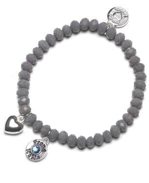 Proud MaMa armband grijs blw beads - Grey