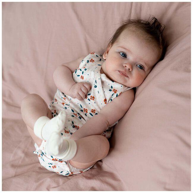 Prénatal newborn meisjes overslag romper - Dark Off-White