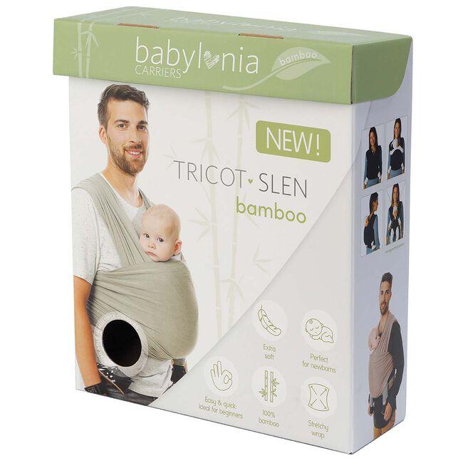 Babylonia draagdoek Tricot-Slen Bamboo - Smokey Grey