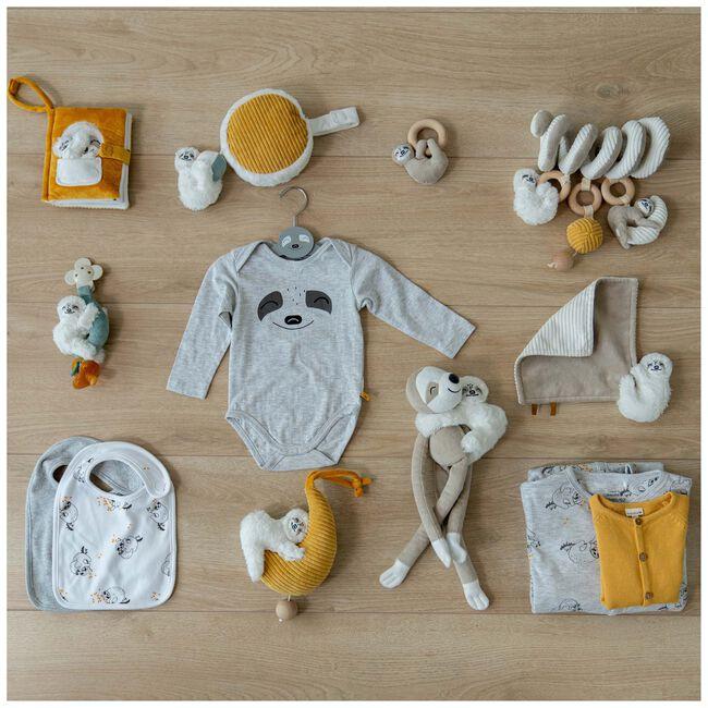 Prénatal knuffeldoekje luiaard - White