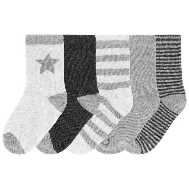 Prénatal jongens sokken - Light Graphite Grey