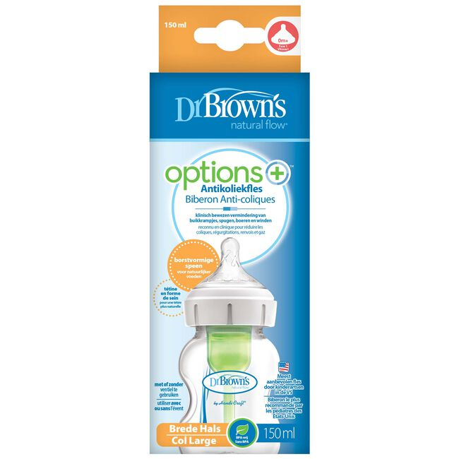 Dr. Brown's Options+ Brede halsfles 150ml -