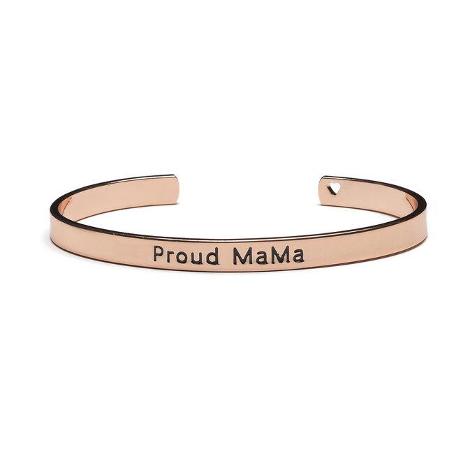 Proud Mama Bangle Armband Rose - Rosered