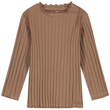 Prénatal baby shirt rib - Light Taupe Brown