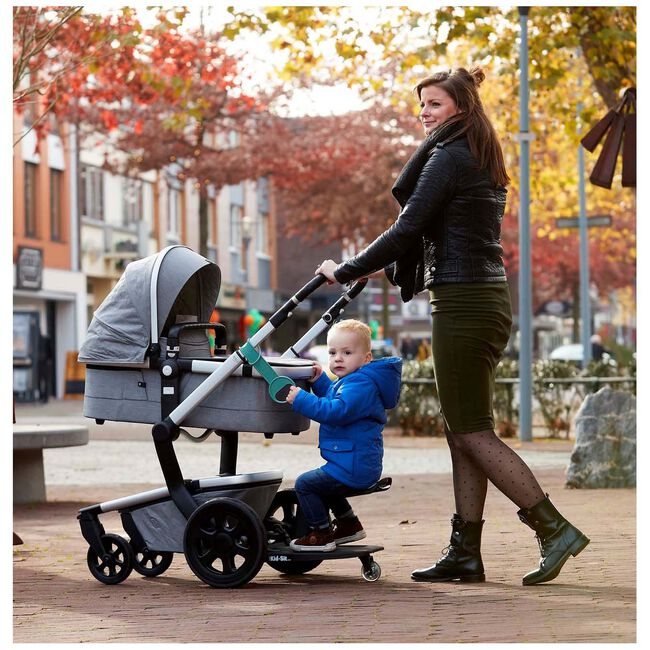 EVE Kids Kid-Sit meerijdstoeltje / meerijdplankje - Black/Green