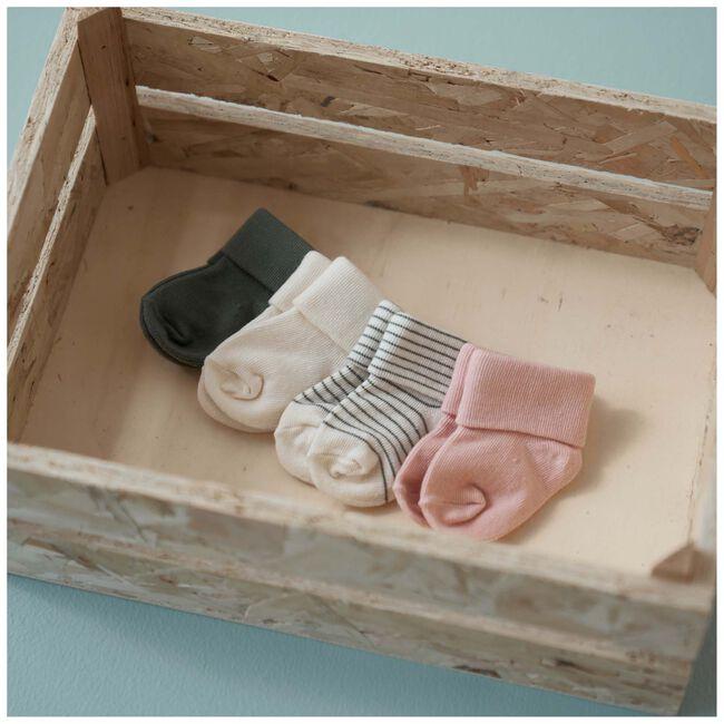 Prénatal newborn meisjes 3-pack sokjes - Dark Off-White
