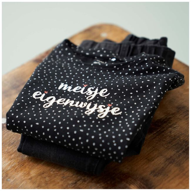 Prénatal baby meisjes T-shirt - Black