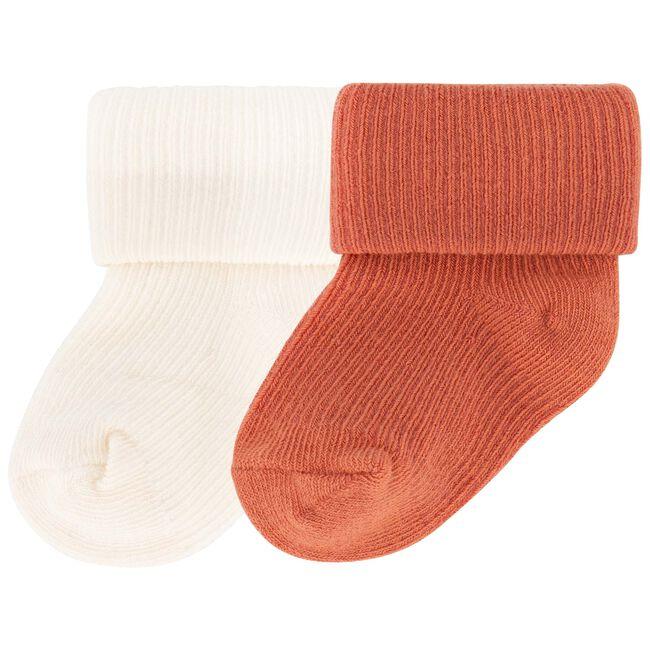 Prénatal newborn unisex sokjes 2-pack - Warm Orange