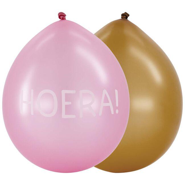 Prenatal ballonnen hoera 6 stuks -