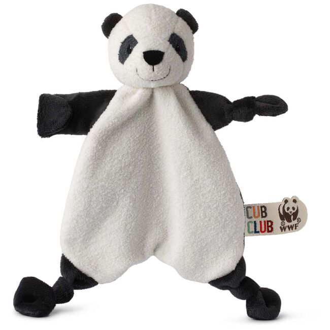 WWF Cub Club knuffeldoekje panda - Black