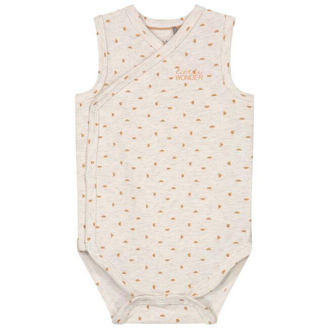 Prénatal newborn unisex romper - Light Ecru Melange