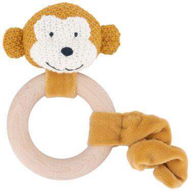 Prénatal rammelaar aap little knits -