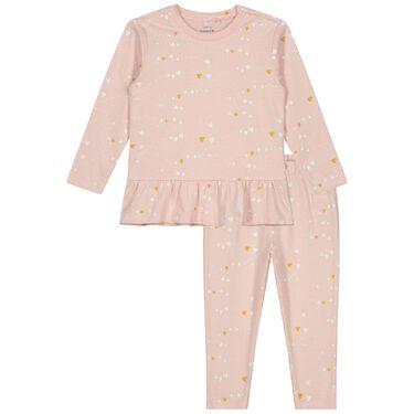Prénatal peuter pyjama hartjes -