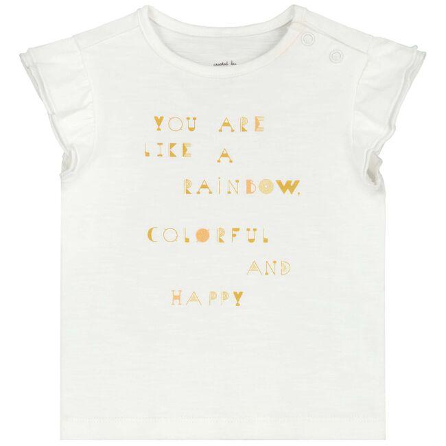 Prenatal baby meisjes T-shirt - Off-White