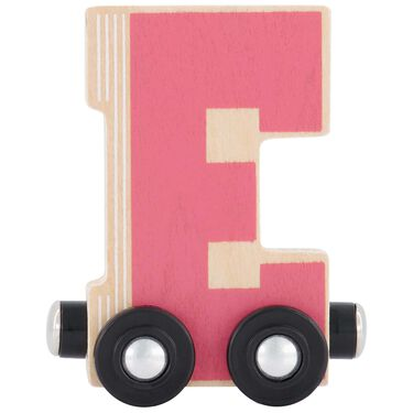 Prenatal houten namentrein letter E -