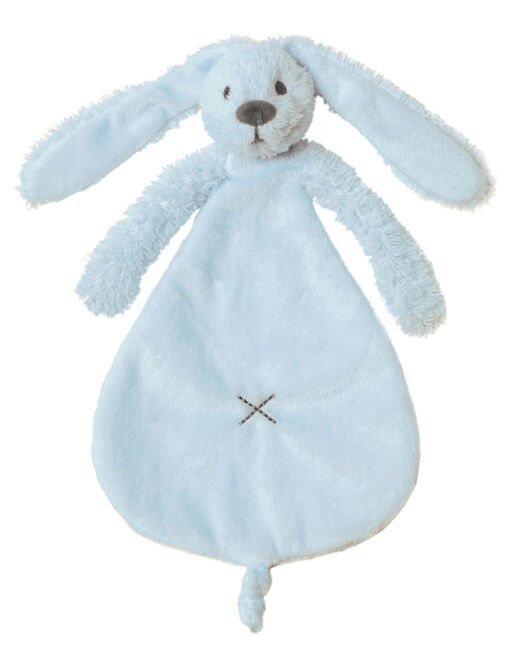 Happy Horse Rabbit Richie Blue knuffeldoekje - Soft blue