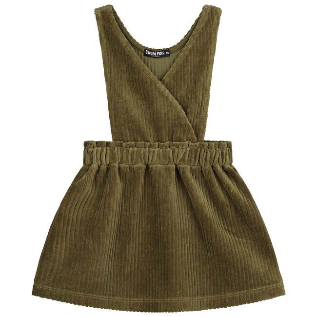 Sweet Petit peuter meisjes jurk Lynn - Dark Olive Green