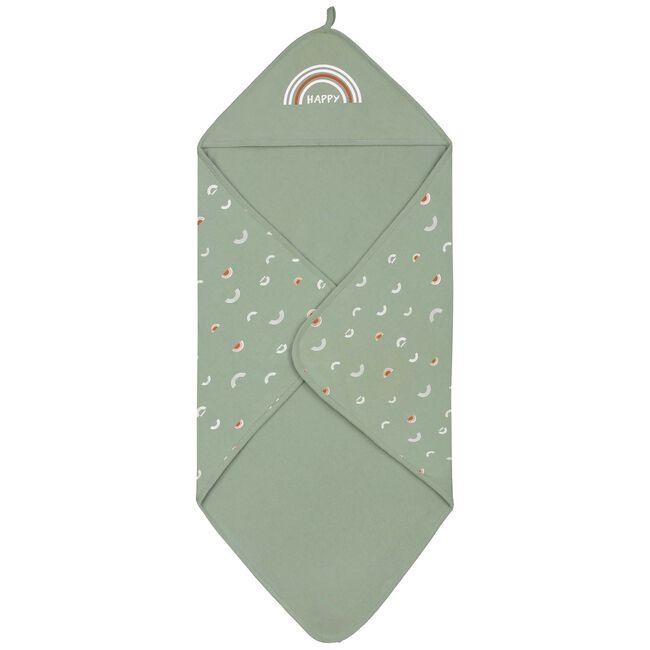 Prenatal badcape regenboogprint - Midgreen