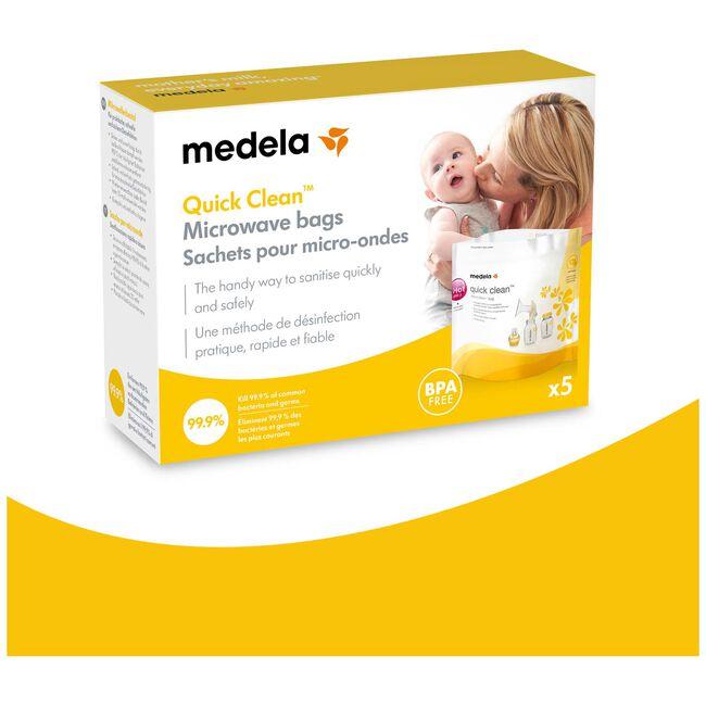 Medela QuickClean magnetronzakken - Onbehandeld/Naturel