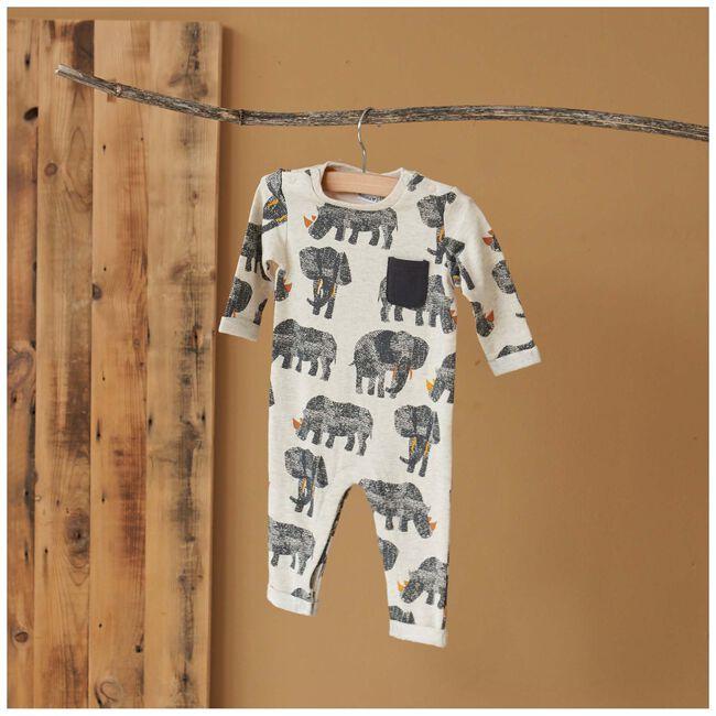 Prénatal baby jongens ééndelig pak - Light Brown Melange