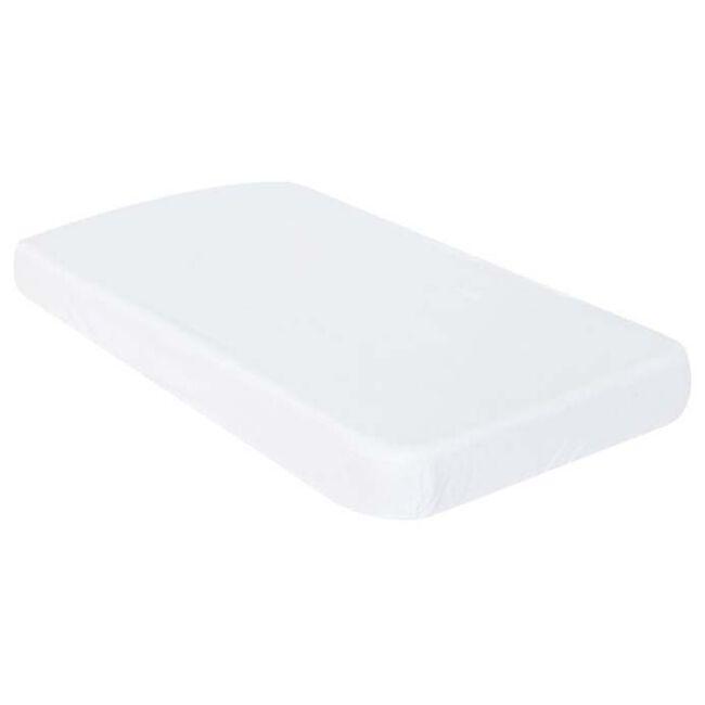 Prénatal ledikant hoeslaken badstof - White