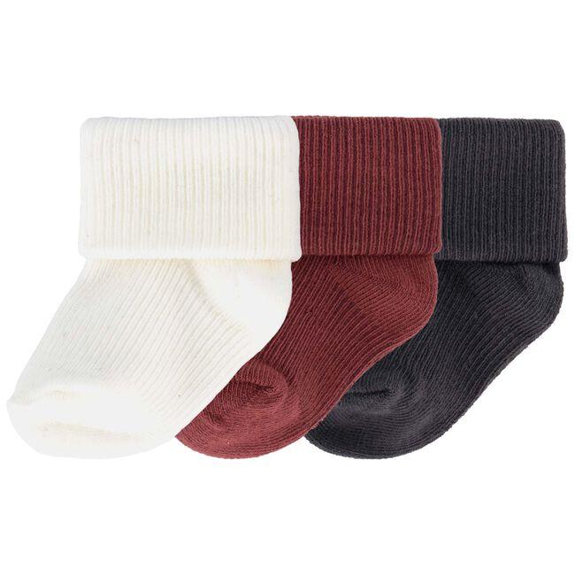 Prenatal newborn jongens sokken 3-pack - Darkred