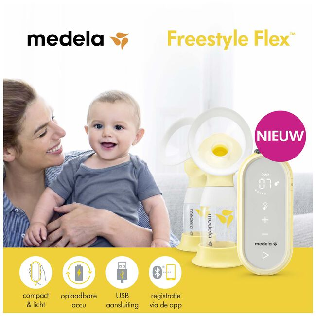 Medela Freestyle Flex dubbele elektrische borstkolf - Linney