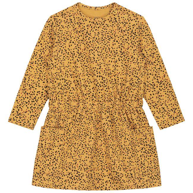 Prénatal peuter meisjes jurk - Gold Yellow
