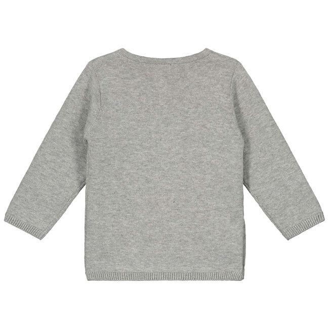 Prénatal newborn unisex overslagvestje - Cloud Grey Melange