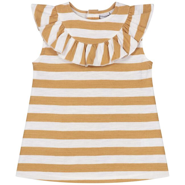 Prénatal baby meisjes T-shirt - Mid Brown Melange