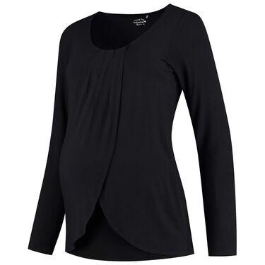 Prenatal voedings T-shirt - Black