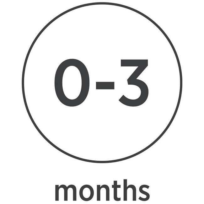 Hevea fopspeen rond 'classic' 0-3 maanden 100% natuurrubber - Powder Pink