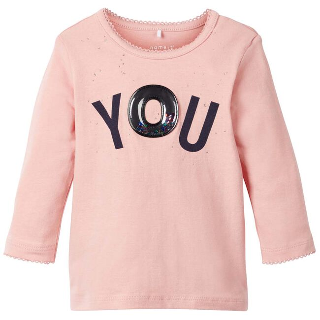 Name it baby meisjes T-shirt - Mid Pink