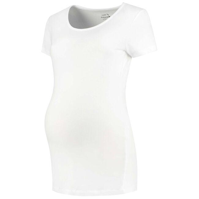 Prénatal zwangerschaps T-shirt - White