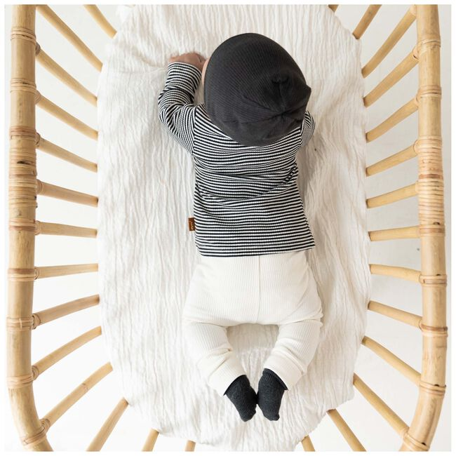 Prénatal baby unisex rib broekje Pure - Dark Off-White