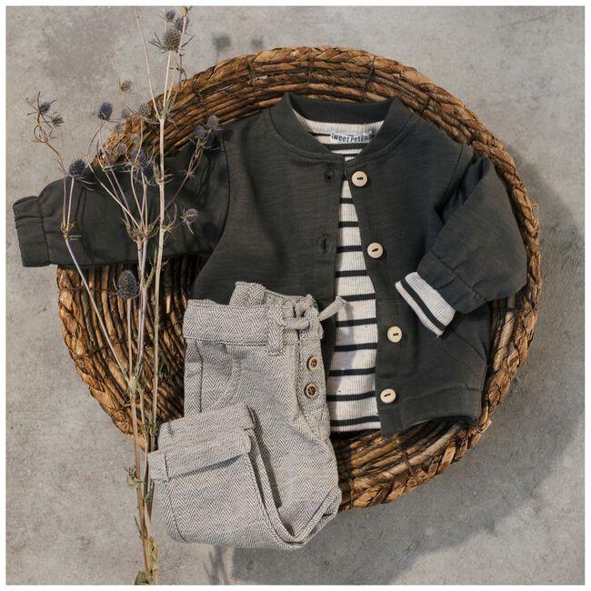Sweet Petit baby unisex t-shirt Robin - Soft Ecru Melange