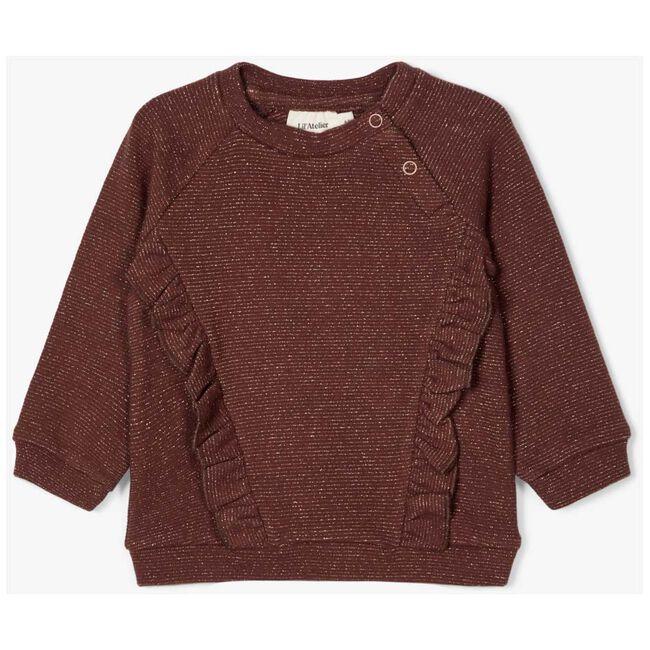 Lil Atelier meisjes sweater - Red Brown