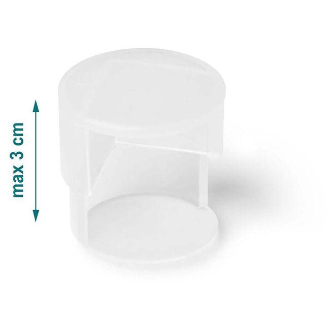 Jippie's dubbele tafelhoek 4 stuks - Transparant