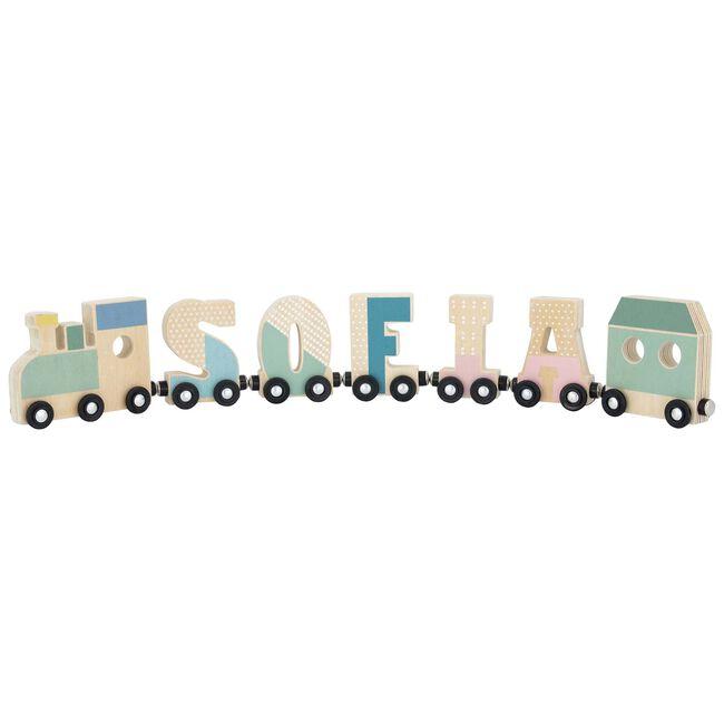 Prénatal houten namentrein letter T - Tingrey