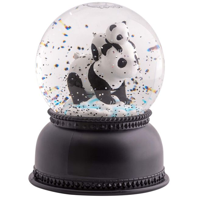 A Little Lovely Company sneeuwbol licht panda - Black