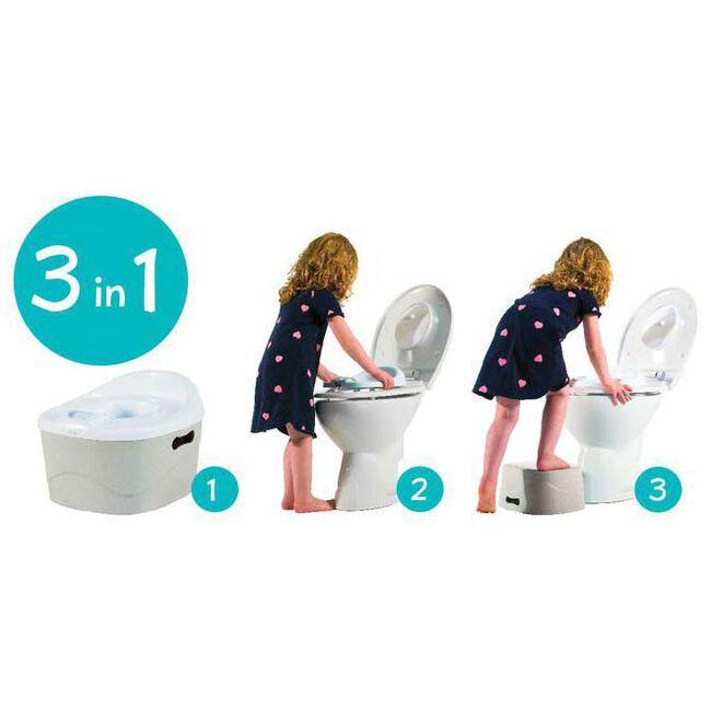 PottyChamp potje, toiletverkleiner en opstapje in 1 - Light Mint Green
